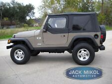 Rampage Products 97 06 Jeep Wrangler Replacement Soft Top Tinted Windows