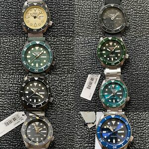 Lot of 8 Seiko 5 Sports Watches SRPD 51 57 61 65 67 77 79 63 SKX