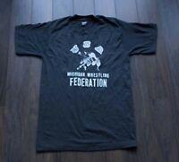 *.* Michigan Wrestling Federation USA T Shirt 50/50 Vtg Size M *F0201a4