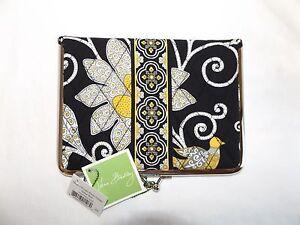 VERA BRADLEY Hugs-N-Kisses Photo Holder Wallet - Yellow Bird Black  New with Tag