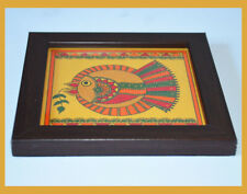 Eco Friendly Hand Painted Square Wood Coaster Holder from India