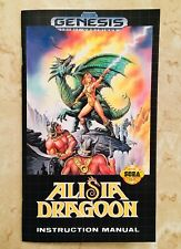 Alisia Dragoon - Sega Genesis - Reproduction Manual - Custom Instruction Booklet