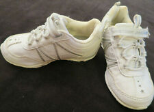 athietech White/Siler Leather Sneakers Shoes Kids Little Girls 9