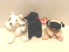 Plush Dogs BUTCH GIGI PUGSLY Mint New Tags lot 3 stuffed animals poodle pug