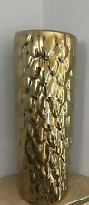"""Nate Berkus Gold Vase Flower Floral Pinecone 10.5"""" Holiday Home Table Decor"""