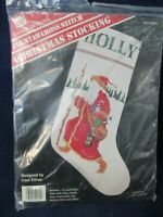 Father Christmas Counted Cross Stitch Stocking Kit Banar Designs Gael Efron New