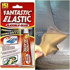 Leather Fabric Glue Adhesive Repair Tear Torn Sofa Settee Car Seat Upholstery Fi