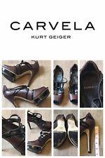 Carvela Brown/Black Open Toe High Heel Fetish /Dom/Sub Shoes Size 6 (39)
