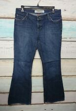 MOSSIMO DENIM LOW RISE FLARE LIGHTLY DISTRESSED WOMENS JEANS SIZE 11