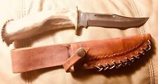 Silver Stag Knife Deep Valley Crown W Leather Sheath