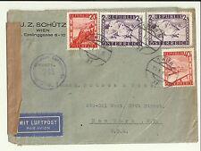 1948 Wien Republik Osterreich AUSTRIA Air Mail Cover 4 Stamps > New York USA