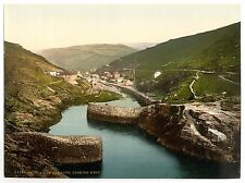 4 Victorian Views Boscastle Valley & Harbour and Forraburg 4 Antique Old Photos
