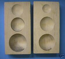 WOOD Dapping Doming JEWELRY DENT REMOVER WOODEN Block PMC 6 sizes HALF DOMES USA