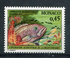 MONACO 1974, timbre 981, POISSON, MEROU, neuf**
