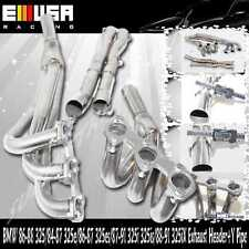 SS Exhaust Header+Y Pipe fits 1986-1988 BMW 325 Base Coupe 2D/Sedan 4D 2.7L I6