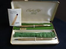 "Vintage Cross Pen Set ""For Him&For Her 10 K Gold Filled Made in USA"