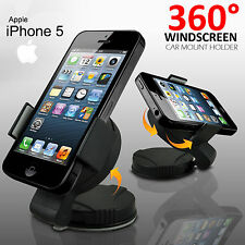 360° WINDSCREEN MINI CAR MOUNT HOLDER CRADLE FOR APPLE IPHONE 5