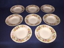 """8 J.H.Wetherby & Sons, Hanley, England ~ 9"""" Rimmed Soup Bowls"""