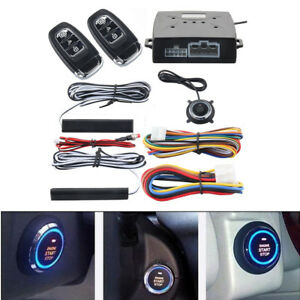 PKE Car Alarm System Passive Keyless Entry Push Button Remote Engine Start/Stop
