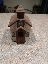 Ceramic Bird House Church Steeple