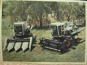 """VINTAGE GLEANER F2 & K2 COMBINE 8"""" x 11"""" REAL COLOR PHOTOGRAPH PICTURE"""
