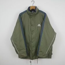 Vintage ADIDAS 90s Khaki Green Coat Jacket | Retro Original Sport | XL