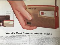 Vintage 1961 Transistor Radio Clock Philco Consoles Stereo Phonograph Ad Pages