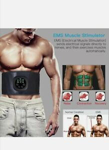 EMS Abdominal Muscle Toning Trainer ABS Electric Stimulator Toner Fitness Belt.