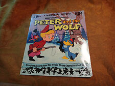 Peter and The Wolf 45 Record Walt Disney NOS - Free S&H USA