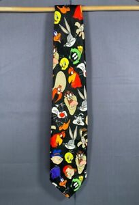 Vintage Looney Tunes Warner Bros 1997 Neck Tie Full Print