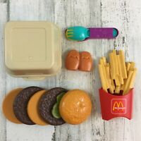 Vtg Fisher Price Fun with Food McDonalds Big Mac 2161 French Fries Incomplete