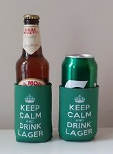Keep Calm & Drink Lager Bottle/Can Cooler Koozie Multi-buy Discount!!