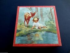 Vintage Unused Erica Von Kager Brownie 2 Xmas Greeting Cards & Box Sweet Angels