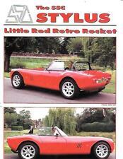 SSC LTD. STYLUS LITTLE RED RETRO ROCKET  V8 SYLUS KIT CAR MODELS SALES BROCHURE