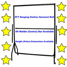 5⭐5ft HEAVY DUTY GARMENT CLOTHES RAIL HOME STORAGE HANGING RACK MARKET DISPLAY