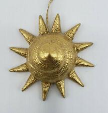 Vintage Margaret Furlong Porcelain Gold Sunshell Christmas Ornament Retired 98'