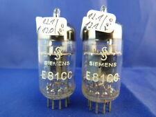 Matched pair e81cc/ecc801s siemens # trimica # nos # 11,9ma (10,0ma = 100%) (9165)