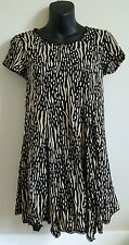 Silence and Noise XSmall animal print Dress shortsleeve black gold