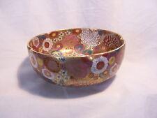 Japanese Satsuma Pottery Bowl Thousand Flowers Koshida Mark Meiji Period SIGNED