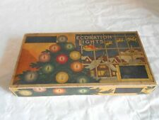 Vintage christmas lights set boxed 1920s
