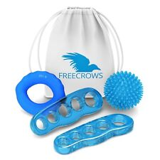 Freecrows - Toe Separators - Hand Grip Strengthener - Spiky Massage Ball Set NEW