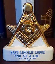 Square and Compass, Masonic, Ceramic Desk Ornament, Nebraska 1958, MOVPER, Arch