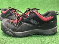 Keen Low Black Red Mens US Sz 10 Hiking Shoes Work Walking Comfort Lace Up