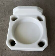 Vintage Bathroom Toothbrush & Cup Holder White Porcelain Wall Mount Salvage 1950