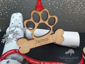 Personalised Christmas Bone Bauble,  Custom Dog Bauble Christmas Gift Memorial