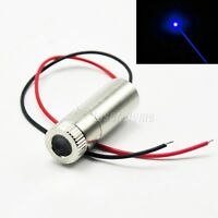 Focusable 450nm 50mW Blue Dot Semiconductor Laser Diode Module Light w/Driver In