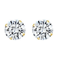 Summer Sale 2.00ct Round Diamond Earrings 14K Solid Yellow Gold Solitaire Studs