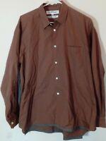 Vtg COMME des GARCONS French Made Men's Button Up Dress Shirt 100% Cotton Sz M
