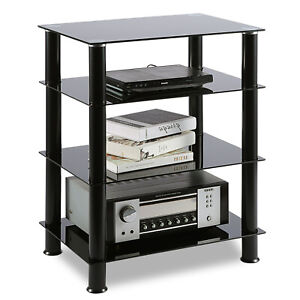 Media Stand Entertainment Center for TV, Audio Video Components,4 Tiers