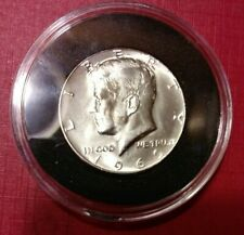 """1969 D 25c Kennedy 40% Silver """"Frosty White"""" Half Dollar from US Unc Mint Set"""
